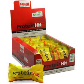 High5 ProteinHit Energitillskott Peanut-Caramel 15 x 50g gul/svart